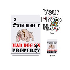 Watch Out Mad Dog On Property Playing Cards 54 (mini)