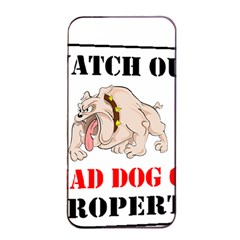 Watch Out Mad Dog On Property Apple Iphone 4/4s Seamless Case (black)