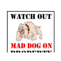 Watch Out Mad Dog On Property Birthday Cake 3D Greeting Card (7x5)