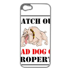 Watch Out Mad Dog On Property Apple Iphone 5 Case (silver)