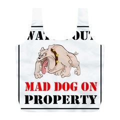 Watch Out Mad Dog On Property Full Print Recycle Bags (l)