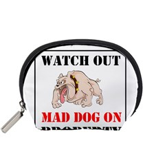 Watch Out Mad Dog On Property Accessory Pouches (small)