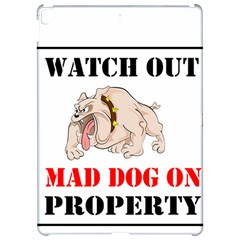 Watch Out Mad Dog On Property Apple iPad Pro 12.9   Hardshell Case