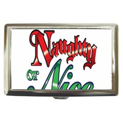 Vintage Christmas Naughty Or Nice Cigarette Money Cases