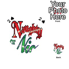Vintage Christmas Naughty Or Nice Playing Cards 54 (heart)