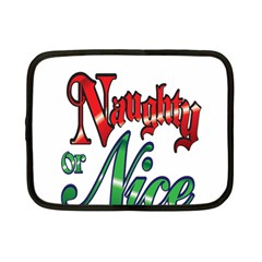 Vintage Christmas Naughty Or Nice Netbook Case (small)