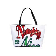 Vintage Christmas Naughty Or Nice Shoulder Handbags