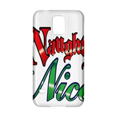Vintage Christmas Naughty Or Nice Samsung Galaxy S5 Hardshell Case