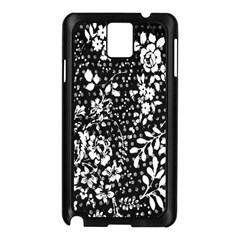 Vintage black and white Flower Samsung Galaxy Note 3 N9005 Case (Black)