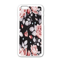 Vintage colorful Flower  Apple iPhone 6/6S White Enamel Case