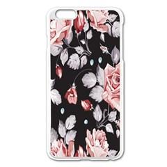 Vintage colorful Flower  Apple iPhone 6 Plus/6S Plus Enamel White Case