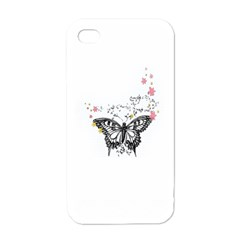 Lovely Butterfly Apple iPhone 4 Case (White)