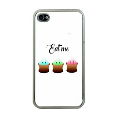 Eat Me Cupcakes Apple iPhone 4 Case (Clear)