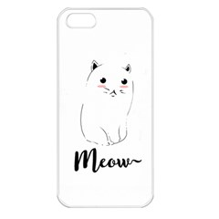 Cute Kitty  Apple iPhone 5 Seamless Case (White)