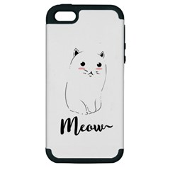 Cute Kitty  Apple iPhone 5 Hardshell Case (PC+Silicone)