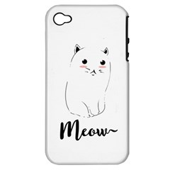 Cute Kitty  Apple iPhone 4/4S Hardshell Case (PC+Silicone)