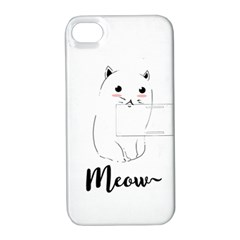 Cute Kitty  Apple iPhone 4/4S Hardshell Case with Stand