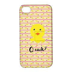 Quack Duck Apple iPhone 4/4S Hardshell Case with Stand