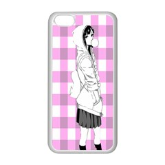 Cute Anime Girl  Apple iPhone 5C Seamless Case (White)