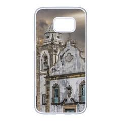 Exterior Facade Antique Colonial Church Olinda Brazil Samsung Galaxy S7 Edge White Seamless Case
