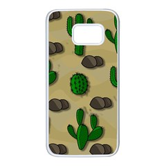 Cactuses Samsung Galaxy S7 White Seamless Case