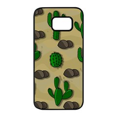 Cactuses Samsung Galaxy S7 Edge Black Seamless Case