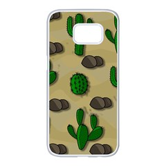 Cactuses Samsung Galaxy S7 edge White Seamless Case