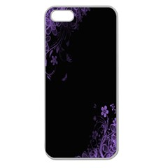 Beautiful Lila Flower  Apple Seamless iPhone 5 Case (Clear)