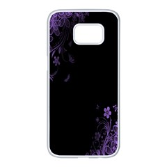 Beautiful Lila Flower  Samsung Galaxy S7 Edge White Seamless Case