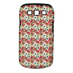 Gorgeous Red Flower Pattern  Samsung Galaxy S III Classic Hardshell Case (PC+Silicone)
