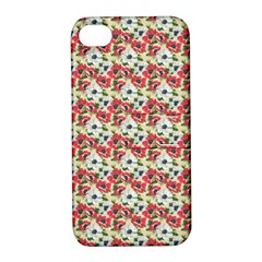 Gorgeous Red Flower Pattern  Apple iPhone 4/4S Hardshell Case with Stand