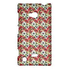 Gorgeous Red Flower Pattern  Nokia Lumia 720