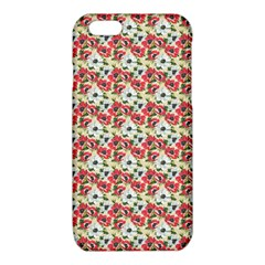 Gorgeous Red Flower Pattern  iPhone 6/6S TPU Case