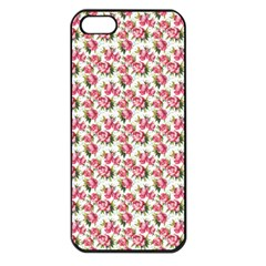 Gorgeous Pink Flower Pattern Apple iPhone 5 Seamless Case (Black)