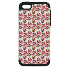 Gorgeous Pink Flower Pattern Apple iPhone 5 Hardshell Case (PC+Silicone)