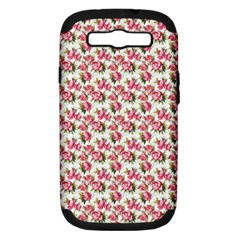Gorgeous Pink Flower Pattern Samsung Galaxy S III Hardshell Case (PC+Silicone)
