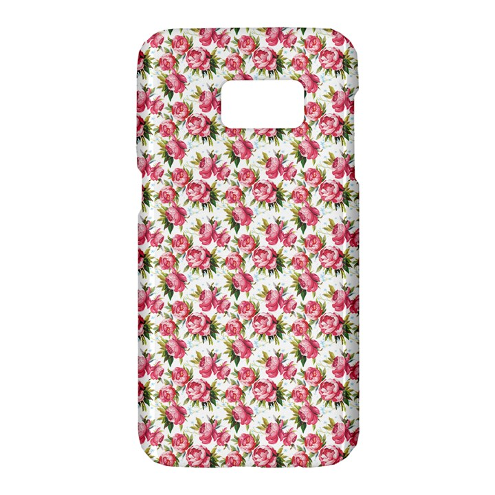Gorgeous Pink Flower Pattern Samsung Galaxy S7 Hardshell Case