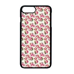 Gorgeous Pink Flower Pattern Apple Iphone 7 Plus Seamless Case (black)