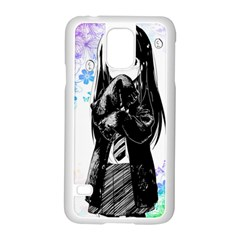 Shy Anime Girl Samsung Galaxy S5 Case (White)