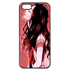 Day Dreaming Anime Girl Apple iPhone 5 Seamless Case (Black)