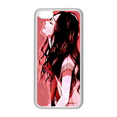 Day Dreaming Anime Girl Apple iPhone 5C Seamless Case (White)