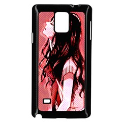 Day Dreaming Anime Girl Samsung Galaxy Note 4 Case (Black)