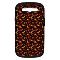 Exotic Colorful Flower Pattern  Samsung Galaxy S III Hardshell Case (PC+Silicone)