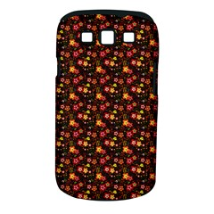 Exotic Colorful Flower Pattern  Samsung Galaxy S III Classic Hardshell Case (PC+Silicone)