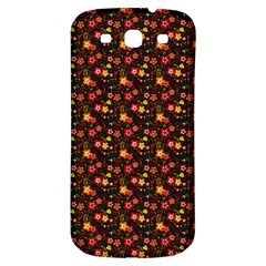 Exotic Colorful Flower Pattern  Samsung Galaxy S3 S III Classic Hardshell Back Case