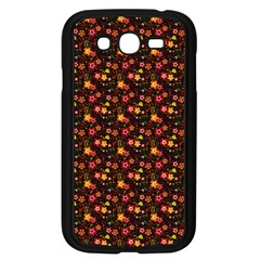 Exotic Colorful Flower Pattern  Samsung Galaxy Grand DUOS I9082 Case (Black)