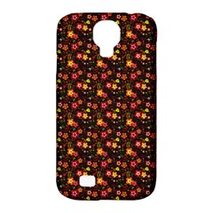 Exotic Colorful Flower Pattern  Samsung Galaxy S4 Classic Hardshell Case (PC+Silicone)