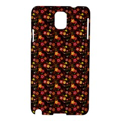 Exotic Colorful Flower Pattern  Samsung Galaxy Note 3 N9005 Hardshell Case