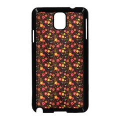 Exotic Colorful Flower Pattern  Samsung Galaxy Note 3 Neo Hardshell Case (Black)