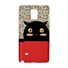 Cute Kitty Hiding Samsung Galaxy Note 4 Hardshell Case